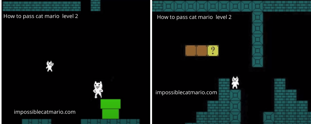 How to pass Cat Mario level 2