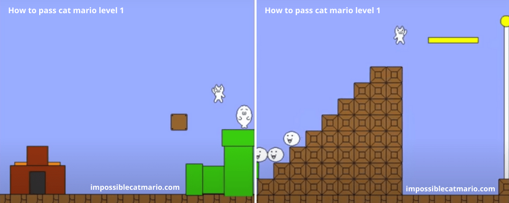 How to pass Cat Mario level 1